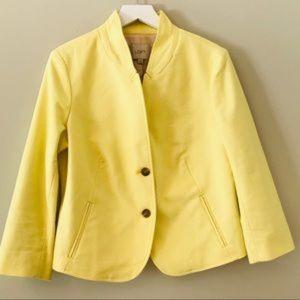 Ann Taylor LOFT Yellow Notch Collar Blazer 12